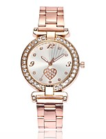 cheap -Women's Dress Watch Wrist Watch Quartz New Design Casual Watch Imitation Diamond Alloy Band Analog Casual Fashion Silver / Gold / Rose Gold - Gold Silver Rose Gold One Year Battery Life