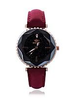 Недорогие -Жен. Нарядные часы Наручные часы Кварцевый Новый дизайн Повседневные часы PU Группа Аналоговый На каждый день Мода Черный / Белый / Красный - Коричневый Красный Розовый Один год Срок службы батареи