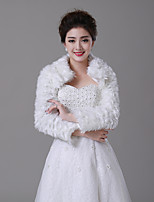 cheap -Long Sleeve Faux Fur Wedding / Party / Evening Women's Wrap With Patterned Shrugs