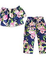 cheap -Toddler Girls' Floral Short Sleeve Clothing Set