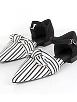 Недорогие -Жен. Комфортная обувь Синтетика Весна На плокой подошве На плоской подошве Черный / Миндальный