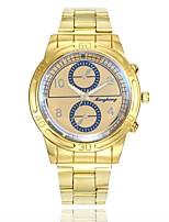 baratos -Homens Relógio Elegante / Relógio de Pulso Chinês Relógio Casual / Mostrador Grande Lega Banda Casual / Fashion Dourada