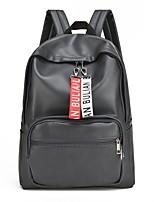 Недорогие -Универсальные Мешки PU рюкзак Однотонные Коричневый / Черный / Темно-серый