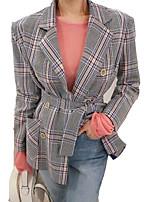 cheap -women's work business casual blazer-print notch lapel