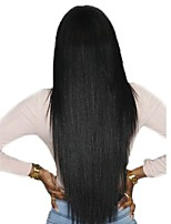 Недорогие -6 Связок Индийские волосы / Африканские косы Прямой Необработанные / Натуральные волосы Подарки / Человека ткет Волосы / Сувениры для чаепития 8-28 дюймовый Ткет человеческих волос