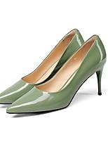 baratos -Mulheres Sapatos Pele Napa Primavera Plataforma Básica Saltos Salto Agulha Preto / Verde