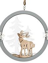 economico -Ornamenti di Natale Vacanza / Cartone animato di legno Tonda di legno Decorazione natalizia