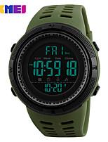 Недорогие -SKMEI Муж. Наручные часы электронные часы Японский Цифровой 50 m Защита от влаги Будильник Календарь PU Группа Цифровой На каждый день Мода Цвет клевера - Зеленый Один год Срок службы батареи