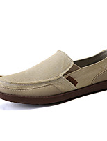 Недорогие -Муж. Комфортная обувь Полотно Осень На каждый день Мокасины и Свитер Контрастных цветов Темно-серый / Светло-серый / Хаки