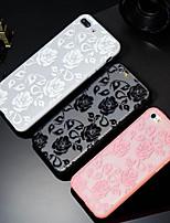 billiga -fodral Till Apple iPhone X / iPhone 8 Plus Mönster Skal Blomma Hårt PC för iPhone X / iPhone 8 Plus / iPhone 8