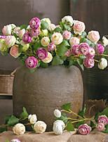 Недорогие -Искусственные Цветы 1 Филиал Классический европейский / Простой стиль Розы Букеты на стол