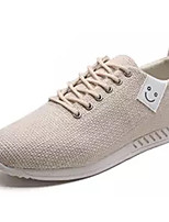 cheap -Men's Canvas / Linen Summer Comfort Sneakers White / Black / Beige