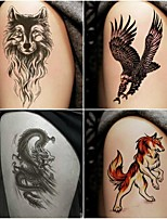 cheap -Decal-style temporary tattoos Arm Temporary Tattoos 10 pcs Totem Series / Animal Series Smooth Sticker / Safety Body Arts Masquerade / Bachelor's Party / Beach
