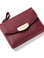 cheap -Women's Bags PU(Polyurethane) Wallet Solid Purple / Dark Green / Wine