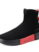 Недорогие -Муж. Эластичная ткань / Синтетика Лето Удобная обувь Кеды Красный / Черно-белый / Черный / Красный