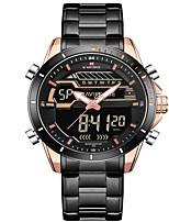 cheap -NAVIFORCE Men's Sport Watch Military Watch Japanese Japanese Quartz 30 m Water Resistant / Water Proof Alarm Calendar / date / day Stainless Steel Band Analog-Digital Luxury Fashion Black / Silver -