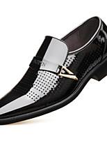 Недорогие -Муж. Микроволокно Весна Удобная обувь Мокасины и Свитер Черный / Коричневый