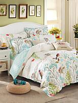 cheap -Duvet Cover Sets Floral 100% Cotton Printed 4 Piece