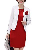 baratos -Mulheres Terno Sólido Vestidos