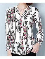 Недорогие -Жен. Праздники Блуза Рубашечный воротник Геометрический принт