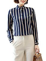 Недорогие -Жен. Рубашка Деловые / Классический Полоски