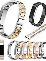 baratos -Pulseiras de Relógio para Fitbit Alta Fitbit Fecho Clássico Aço Inoxidável Tira de Pulso
