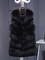 Недорогие -женский выход плюс меховая шуба из искусственного меха - сплошной цвет