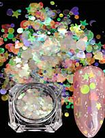 Недорогие -2 pcs Пайетки Мини / Градиент / Лучшее качество Сердце Радужный маникюр Маникюр педикюр Рождество / Halloween / Выпускной Художественный / Милая