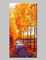 abordables -Peinture à l'huile Hang-peint Peint à la main - Paysage / A fleurs / Botanique Classique / Moderne Toile