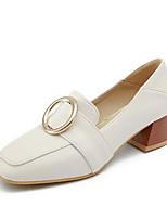 abordables -Femme Chaussures de confort Daim / Polyuréthane Printemps Chaussures à Talons Talon Bottier Blanc / Noir / Jaune