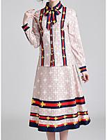 Недорогие -Жен. Изысканный Набор Платья Контрастных цветов