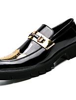 abordables -Homme Chaussures Formal Faux Cuir / Polyuréthane Automne Mocassins et Chaussons+D6148 Couleur Pleine Or / Noir