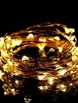 baratos -5m Cordões de Luzes 50 LEDs Branco Quente / Vermelho / Azul Decorativa / Legal Carregamento USB