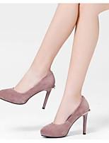 Недорогие -Жен. Комфортная обувь Замша Осень Обувь на каблуках На шпильке Черный / Серый / Розовый