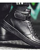 Недорогие -Муж. Комфортная обувь Полиуретан Наступила зима Кеды Черный / Серый / Коричневый