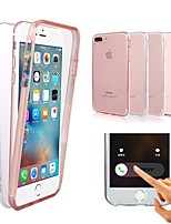 Недорогие -Кейс для Назначение Apple iPhone X / iPhone XS / iPhone XR Защита от удара / Прозрачный Чехол Однотонный Твердый ПК для iPhone XS / iPhone XR / iPhone XS Max