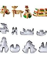 Недорогие -8pcs / set нержавеющая сталь 3d рождественские куки-резаки пирожные печенье пресс-форма для похудения резак diy инструменты для выпечки
