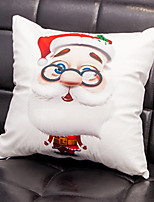 baratos -Cobertura de Almofada Natal / Férias Algodão Rectângular Festa / Novidades Decoração de Natal