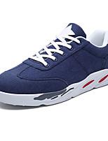 Недорогие -Муж. Комфортная обувь Полотно / Полиуретан Осень На каждый день Кеды Дышащий Черный / Военно-зеленный / Синий