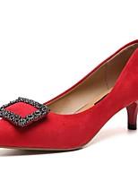 abordables -Femme Escarpins Polyuréthane Automne Chaussures à Talons Kitten Heel Bout pointu Noir / Gris / Rouge / Quotidien