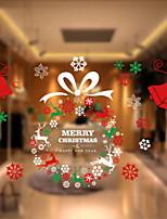 Недорогие -Оконная пленка и наклейки Украшение Рождество Праздник ПВХ Стикер на окна / Cool / Милый