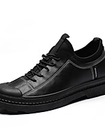 Недорогие -Муж. Комфортная обувь Полиуретан Осень На каждый день Кеды Нескользкий Серый / Черно-белый / Хаки