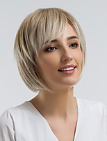 cheap -Synthetic Wig Straight Side Part Synthetic Hair 10 inch Natural Hairline Light Brown Wig Women's Short Capless Light Brown / Yes