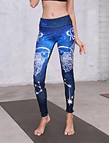 preiswerte -Damen Grundlegend Legging - Geometrisch Mittlere Taillenlinie