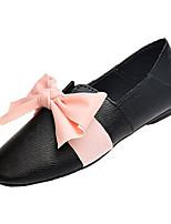baratos -Mulheres Sapatos Confortáveis Couro Ecológico Outono Casual Rasos Sem Salto Laço Preto / Bege