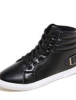Недорогие -Муж. Комфортная обувь Полиуретан Осень На каждый день Кеды Дышащий Черный / Темно-синий / Коричневый