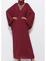 baratos -Mulheres Solto Túnicas Vestido Gola Alta Longo