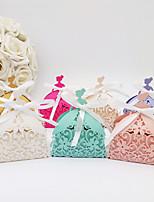 Недорогие -Необычные Мелованная бумага Фавор держатель с Ленты / Ленты Подарочные коробки - 50 шт