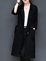 cheap -Women's Trench Coat - Creative Shirt Collar