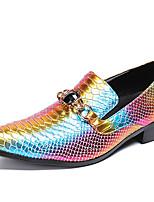 Недорогие -Муж. Официальная обувь Наппа Leather Осень Английский Туфли на шнуровке Нескользкий Золотой / Стразы / Для вечеринки / ужина